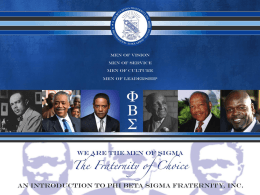PowerPoint Presentation - Phi Beta Sigma