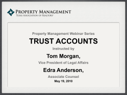 trust accounts - Ultra Real Estate Services