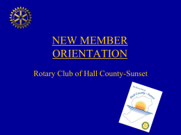 South Hall Sunset Membership Orientation ppt