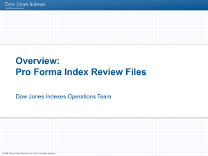 Proforma Index Review Files Overview