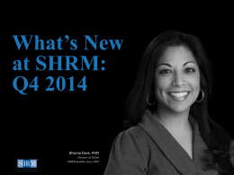What`s New at SHRM - Society for Human Resource Management