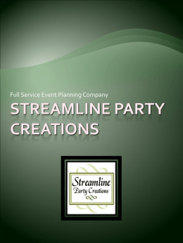 Streamline Party Creations