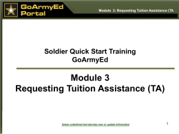 Goarmyed TA Request Process