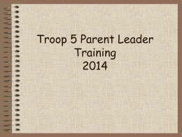 the Powerpoint - Troop 5 Waukesha, Boy Scouts of America