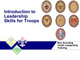 Introduction to Leadership Skills for Troops Training Presentation2