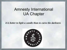 Amnesty International - ASUA Clubs and Organizations