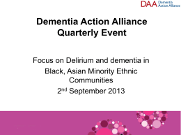Simon Kitchen, Dementia Action Alliance