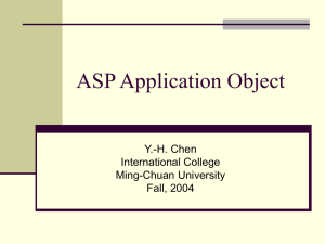 ASP Application Object