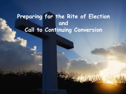 Rite of Election - The Diocese of Shrewsbury