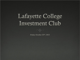 FridayOctober25thMeeting - Sites at Lafayette