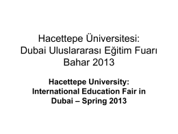 International Education Fair in Dubai – Spring 2013