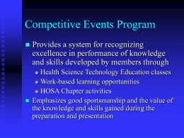 Competitive Events Program
