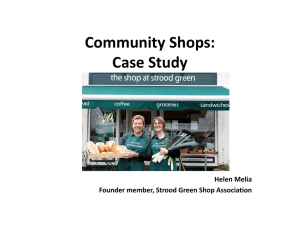 Community Shops and Strood Green Case Study (NI) – PART A