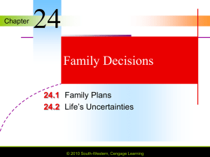 Chapter 24 Family Decisions
