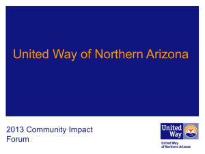 United Way of Northern Arizona in Partnership with City of Flagstaff
