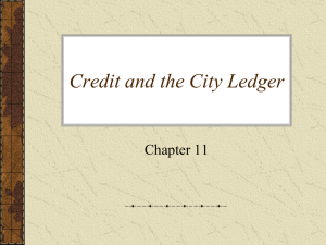 Credit and the City Ledger