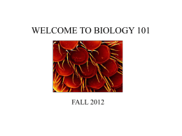 WELCOME TO CONCEPTS OF BIOLOGY