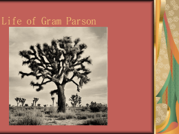 Life of Gram Parson - Valley Oaks School