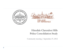Clarendon Hills-Hinsdale Police Consolidation Study - E