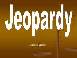 PPT Jeopardy Legislative Branch