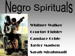 Negro Spirituals - Ector County Independent School District