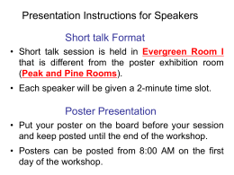 Presentation instructions for speakers