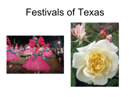 Festivals of Texas