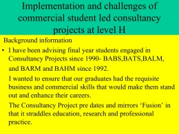 Consultancy Project - Bournemouth University Research Online