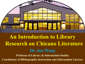 An Introduction to Library Research on Chicano Literature ()