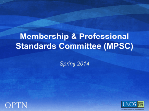 Membership & Professional Standards Committee