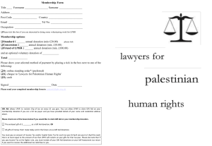 attached LPHR membership form - Lawyers for Palestinian Human