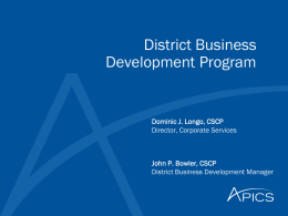 District Business Development Program