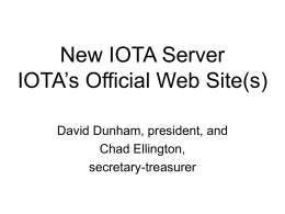 New IOTA Server? - Asteroid Occultation Updates