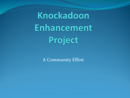 Knockadoon Enhancement Project Presentation