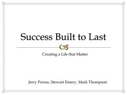Success Built to Last,