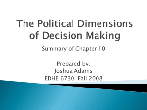 The Political Dimensions of Decision Making