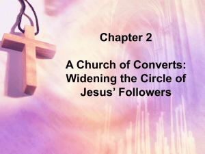 Widening the Circle of Jesus` Followers