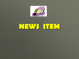 NEWS ITEM - WordPress.com