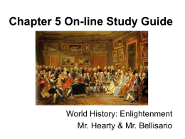 World History Chapter 5 On-line Study Guide