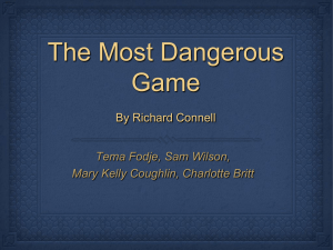 Most Dangerous Game Project Student