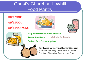 Christ`s Church at Lowhill Food Pantry
