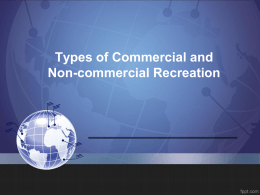 Types of Commercial and Non