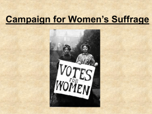 Campaign for Women`s Suffrage