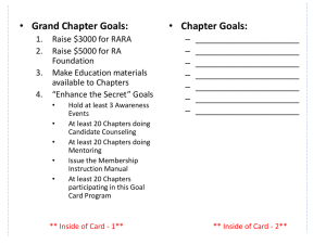 Goal Cards - Grand Chapter, Royal Arch Masons of Michigan