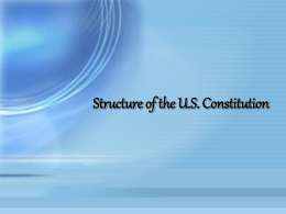 Structure of Constitution Powerpoint