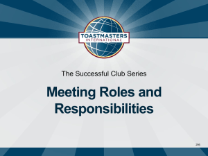 PPT - District 25 Toastmasters