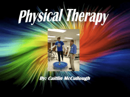 Physical Therapy Career Powerpoint