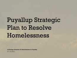 Puyallup Homelessness Presentation