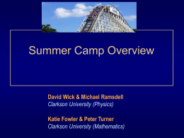Roller Coaster Camp Brief Power Point