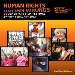2013 (pdf) - Human Rights Human Wrongs Film Festival